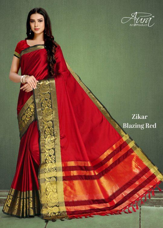 66ef085e0b Aura sarees presents zikar pure cotton silk daily wear sarees cotaloge  wholesaler