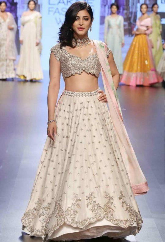 db7bc05730 krishna export pressent bollywood acctrers Shruti Hassan Exclusive Designer  Bridal Lehenga
